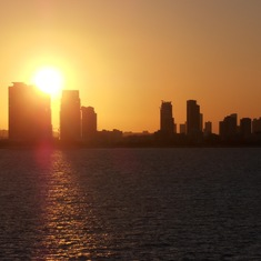 Sunset over Miami