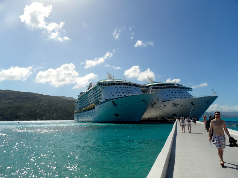 Picture of our ship docked - Explorer of the Seas