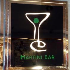 Signage by Bar