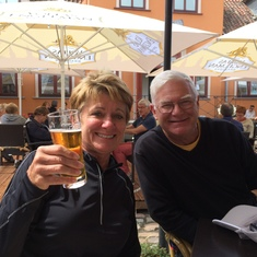 Riga, Latvia - Enjoying a brew in Riga.