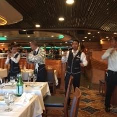 Crew celebrating