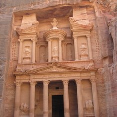 "Aqaba (Petra), Jordan - ""The Treasury"" in the Ancient City of Petra---Jordan"