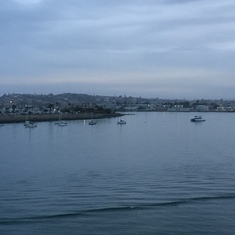 A rainy, but still beautiful arrival in San Diego