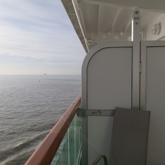 Balcony view, leaving Zeebrugge