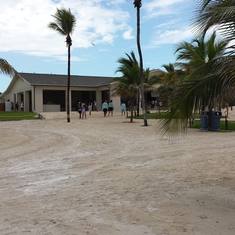 Great Stirrup Cay (Cruiseline Private Island), Bahamas - The hut for lunch.  Go back multiple times, don't forget the ribs and dessert