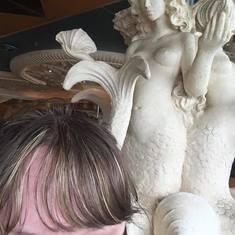 Mermaid statues in Main Dining