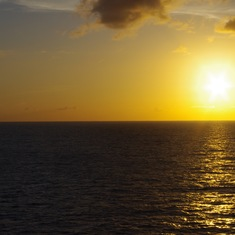Sunset on the Caribbean