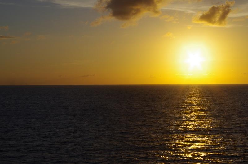 Sunset on the Caribbean - Disney Magic