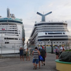 The Carnival Conquest & Navigator of the Seas