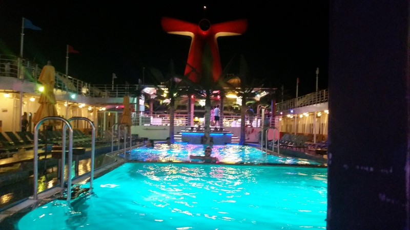 pool at night - Carnival Ecstasy