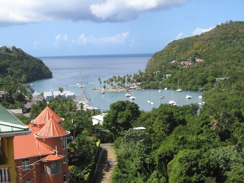 Scarborough, Tobago - Typical view on Tobago in Caribbean