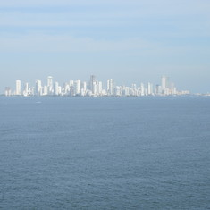 Approaching Cartagena, Columbia as seen from our balcony