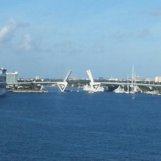 From Lido Dining Room in Port Everglades