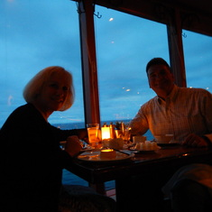 Wonderful waterfront dinner at sunset. Moderno, the Brazillian Steakhouse.
