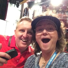 The cruise director Mike, surprised me with an official Carnival Selfie with me!