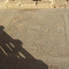 Villa floor of Roman nobleman--Cyprus--Four Greek crosses--1st indication Christ