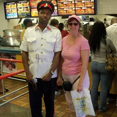 My run in with the law at Burger King in Nassau.