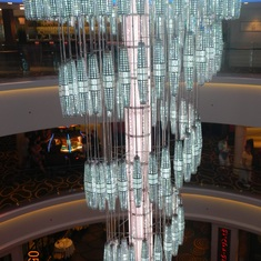 Chandelier in the main lobby