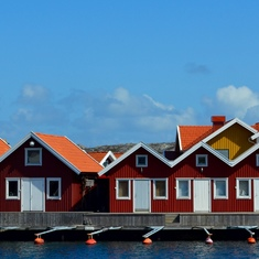 Fishing village in Sweden