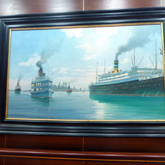 I loved all the nautical paintings
