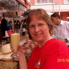 San Juan, Puerto Rico - Sipping on that pina colada.