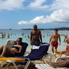 Mahogany Bay, Roatan, Bay Islands, Honduras - chilling on the beach