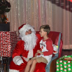Santa even found the kids onboard