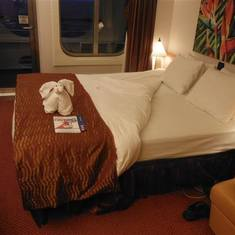 Our stateroom with balcany