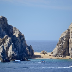 Beach between the rock formations of Cabo San Lucas (substitute port)