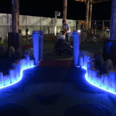 Mini Golf on Deck 16 Aft - some of the holes are insanely difficult!