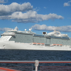 Regal Princess at Anchor