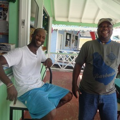 Castries, St. Lucia - My good golfing buddy in St.Lucia took time from work to have a drink or two