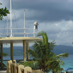 Montego Bay, Jamaica - Storm was rolling in.