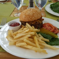 Basseterre, St. Kitts - Cheeseburger in Paradise