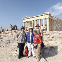 Up on the Acropolis--glad it was early in the season and in the day!