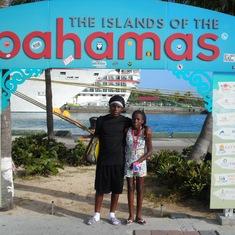 my kids at port