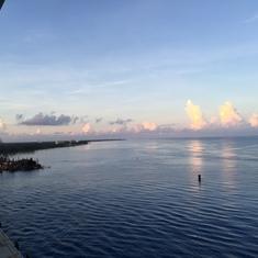 Arrival in Cozumel