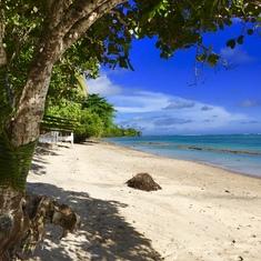 Beachside BBQ. (W. Samoa)