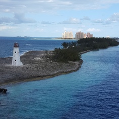 leaving Nassau Harbor/Atlantis in background