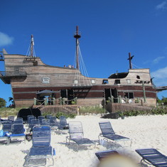 Half Moon Cay, Bahamas (Private Island) - Pirate ship bar