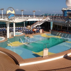 Main pool area (Decks 11 and 12)