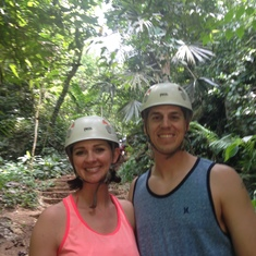 zipline in belize! Its a jungle out there!