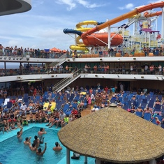 an excellent view of pool party