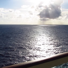 lovely sea view from balcony cabin 1236 - Freedom of the Seas
