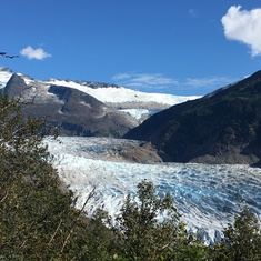 Mendenhall glacier - this one is shrinking.