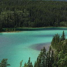 Emerald Lake in Yukon Pass area