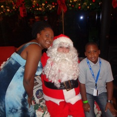 Philipsburg, St. Maarten - Posing with santa....lol
