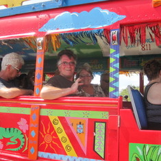 Oranjestad, Aruba - Having fun In Aruba on the Kukoo open air bus tour