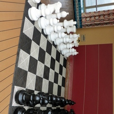 Chess Set Poolside