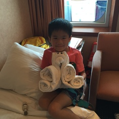 The kids loved the daily towel animals